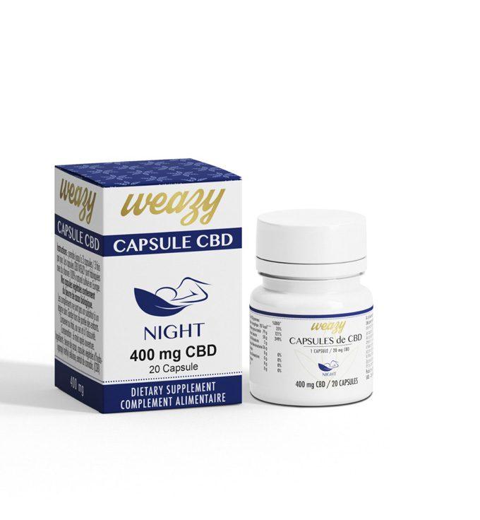 Capsule de CBD sommeil